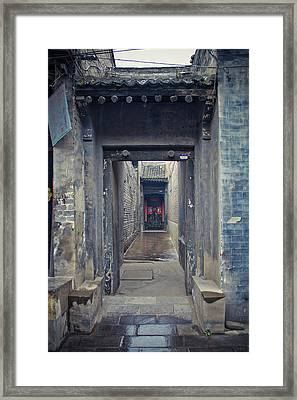 Chinese Style Old Doorway Framed Print by Eastphoto