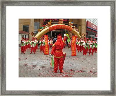 Chinese Wedding Celebration Framed Print by Alfred Ng