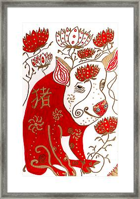 Chinese Year Of The Pig Framed Print