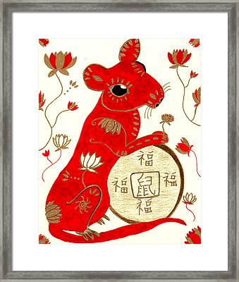 Chinese Year Of The Rat Framed Print