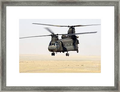 Chinook Cargo Helicopter Framed Print by DOD/Science Source