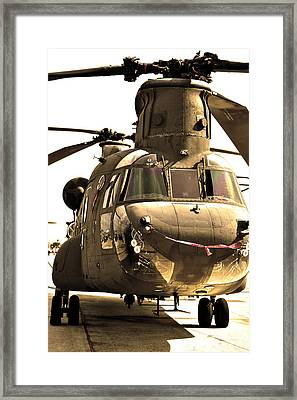 Chinook Framed Print by Mitch Cat