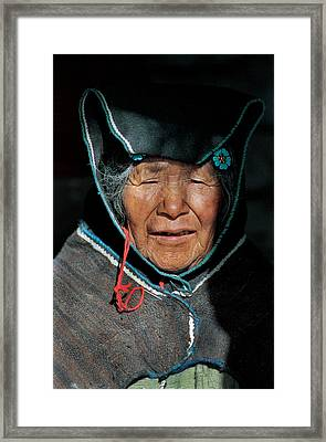 Chipaya Culture Grandmother. Department Of Oruro. Republic Of Bolivia. Framed Print by Eric Bauer