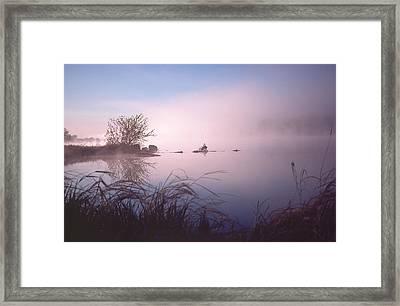 Chippewa River At Dawn Framed Print
