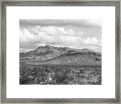 Chisos Mountain View Framed Print