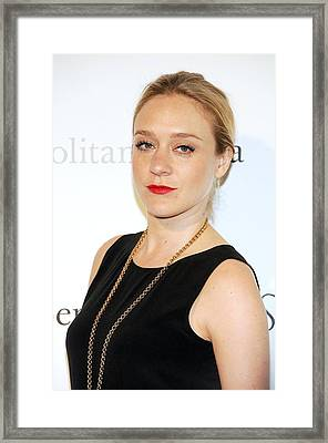 Chloe Sevigny At Arrivals Framed Print by Everett