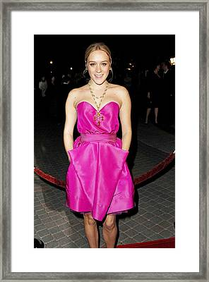 Chloe Sevigny Wearing A Luella Dress Framed Print