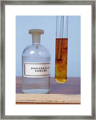 Chlorine Displacing Iodine Framed Print by Andrew Lambert Photography