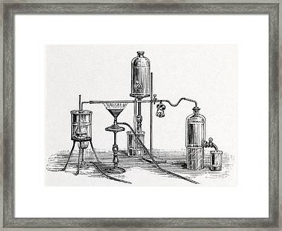 Chloroform Analysis, 19th Century Artwork Framed Print by Middle Temple Library