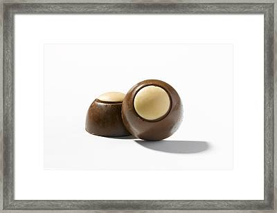 Chocolate And Peanut Butter Candies Framed Print
