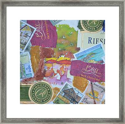 Chocolate And Wine Framed Print by Barbara Tibbets