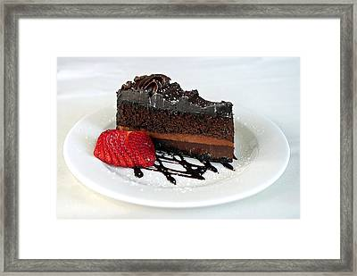 Chocolate Cake Framed Print by Lisa Phillips