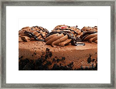 Chocolate Cake With A Cherry On Top 3 Framed Print