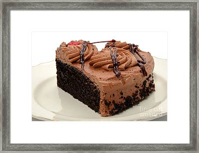 Chocolate Cake With A Cherry On Top 4 Framed Print