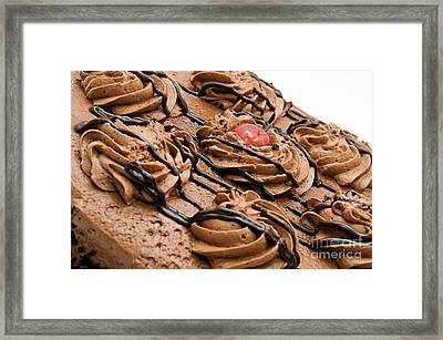 Chocolate Cake With A Cherry One Top 1 Framed Print by Andee Design