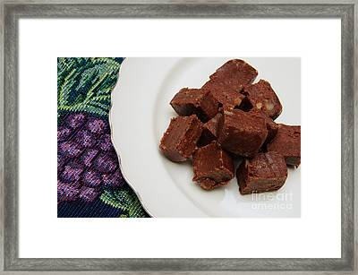 Chocolate Cheese With Nuts Framed Print by Andee Design