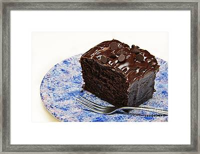 Chocolate Chip Cake Framed Print by Andee Design