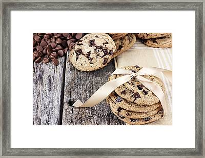 Chocolate Chip Cookies And Chocolate Chips Framed Print