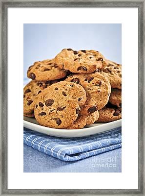 Chocolate Chip Cookies Framed Print by Elena Elisseeva