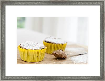 Chocolate Coconut Cupcakes Framed Print by Charlotte Lake