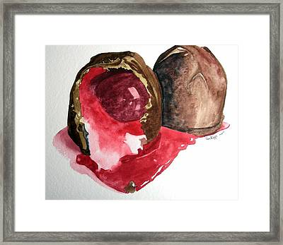 Framed Print featuring the painting Chocolate Covered Cherries by Tom Riggs