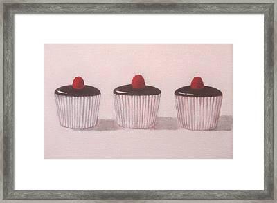 Chocolate Cupcakes  Framed Print by Kazumi Whitemoon