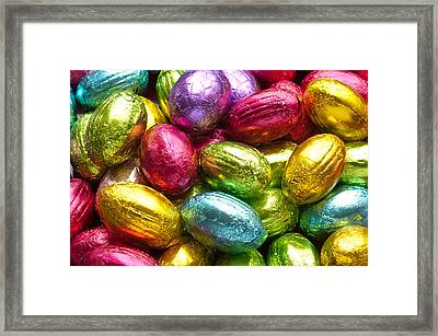 Chocolate Easter Eggs Framed Print by Hans Engbers