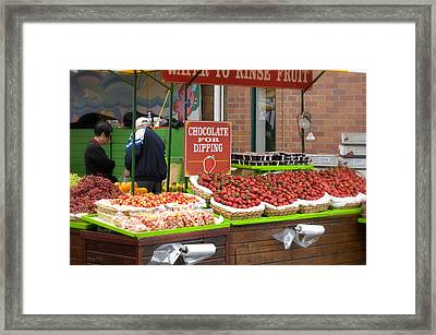 Chocolate For Dipping Framed Print by Gary Rose