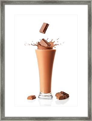 Chocolate Milkshake Smoothie Framed Print by Amanda Elwell