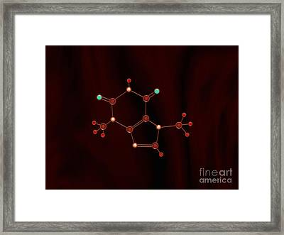 Chocolate Molecule Framed Print