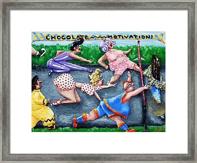 Chocolate Motivation Framed Print by Alison  Galvan