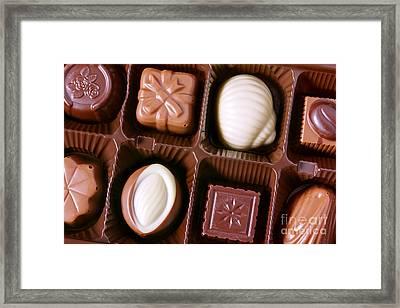 Chocolates Closeup Framed Print by Carlos Caetano