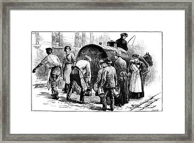Cholera Epidemic, 19th Century Framed Print by