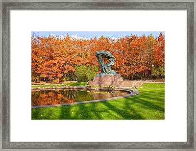 Chopin Monument In The Lazienki Park Framed Print by Artur Bogacki