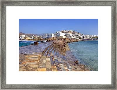 Chora Naxos Framed Print