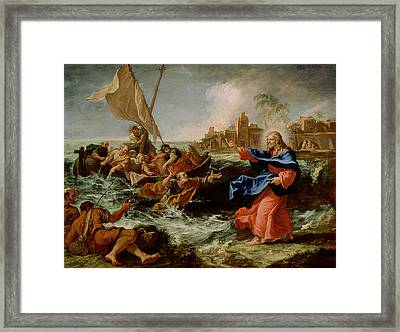 Christ At The Sea Of Galilee Framed Print by Sebastiano Ricci