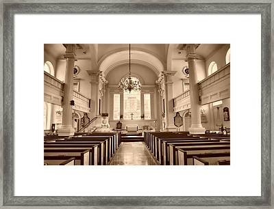 Christ Church  Framed Print by Thomas  MacPherson Jr