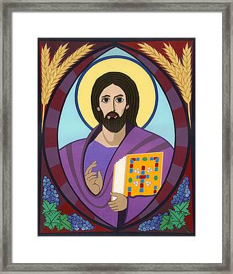 Christ Pantokrator Icon Framed Print by David Raber