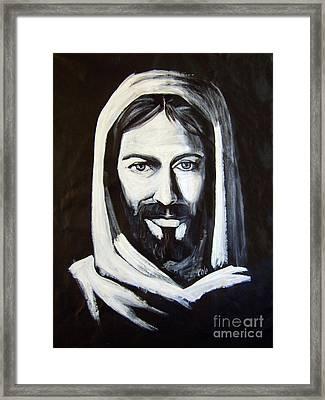 Christ Smiling Framed Print