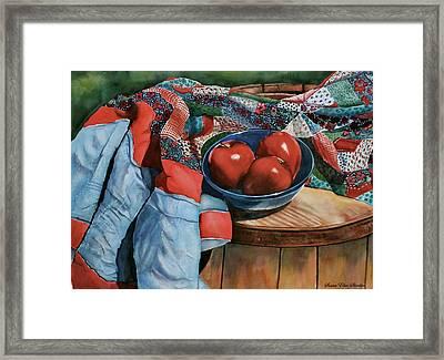 Christa's Quilt Framed Print by Susan Elise Shiebler