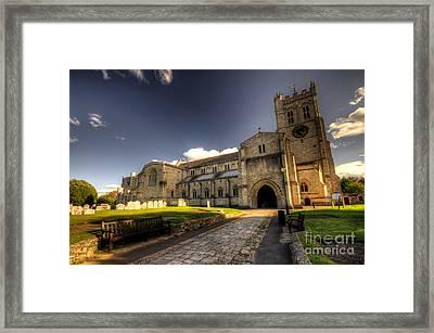 Christchurch Priory Framed Print by Rob Hawkins