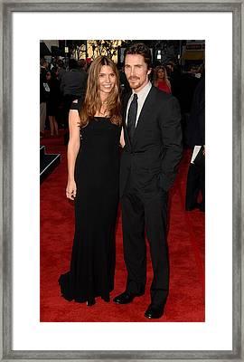 Christian Bale At Arrivals For 2009 Los Framed Print