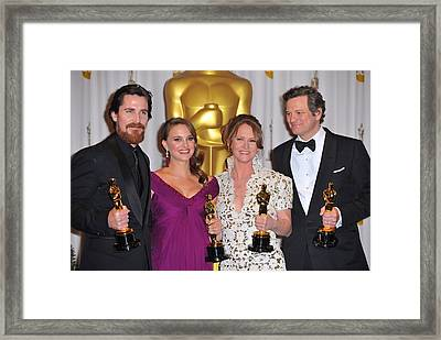 Christian Bale, Natalie Portman Framed Print by Everett