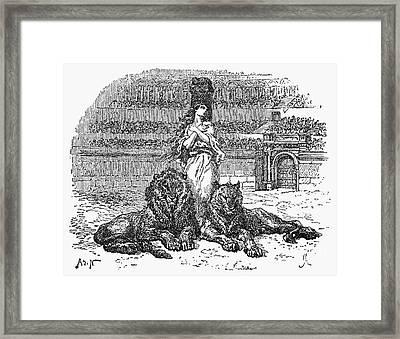 Christian Martyr Framed Print by Granger