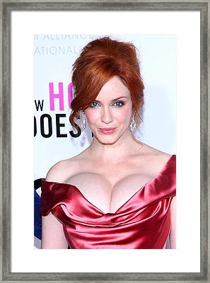 Christina Hendricks At Arrivals For I Framed Print by Everett