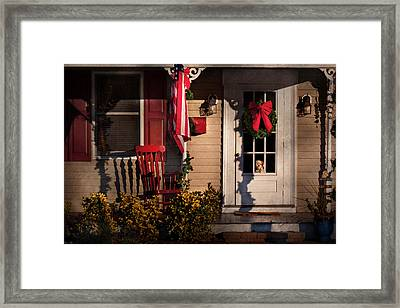 Christmas - Clinton Nj - How Much Is That Doggy In The Window Framed Print