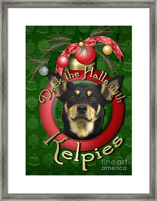 Christmas - Deck The Halls With Kelpies Framed Print by Renae Laughner