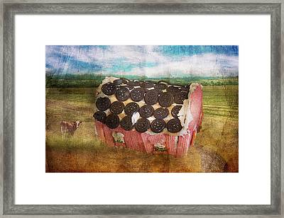 Christmas - Home Sweet Home Framed Print by Mike Savad