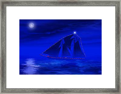 Christmas At Sea Framed Print by Carol and Mike Werner