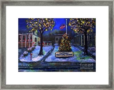Christmas At The Municipal Center Framed Print
